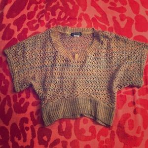Wet Seal Multicolor Cropped Knit Top